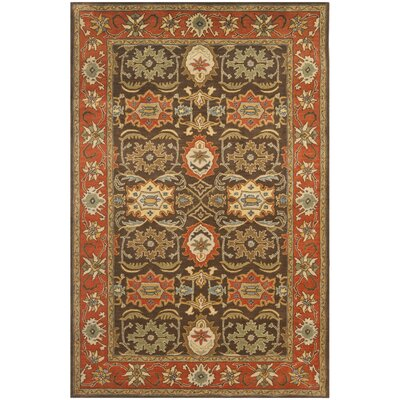 Hebron Brown Area Rug Rug Size: Rectangle 4 x 6