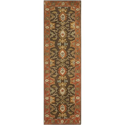 Hebron Brown Area Rug Rug Size: Runner 23 x 12