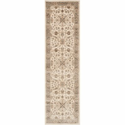 Pittsboro Stone & Mouse Oriental Ivory Area Rug Rug Size: Runner 22 x 12