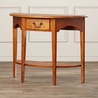 Apple Valley Demilune Console Table Finish: Medium Oak