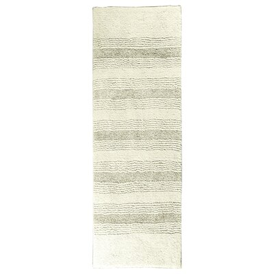 Herleston Brette Bath Rug Size: 2 x 3 4, Color: Ivory
