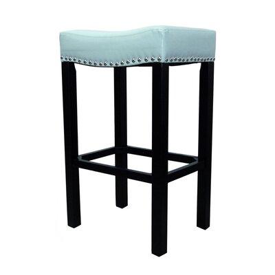 Springfield 26 inch Bar Stool with Cushion Upholstery: Sky Blue