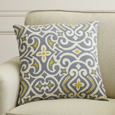Fraley Throw Pillow Size: 18 H x 18 W, Color: Gray / Greenish Yellow