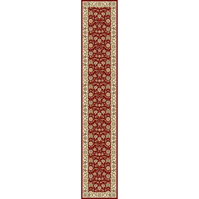 Silvera Red/Ivory Area Rug Rug Size: Runner 23 x 10