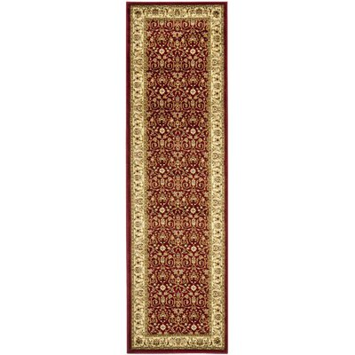 Silvera Red/Ivory Area Rug Rug Size: Runner 23 x 18