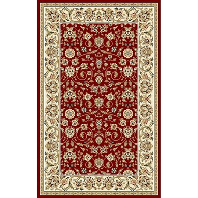 Silvera Red/Ivory Area Rug Rug Size: Rectangle 53 x 76