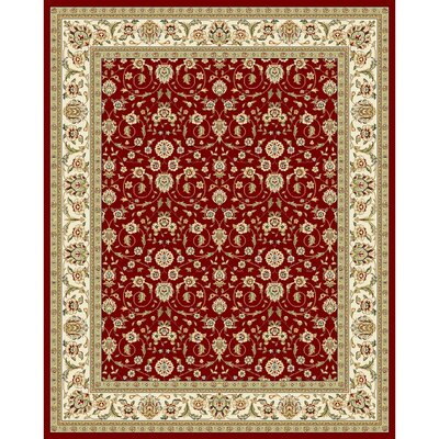Silvera Red/Ivory Area Rug Rug Size: 7'9
