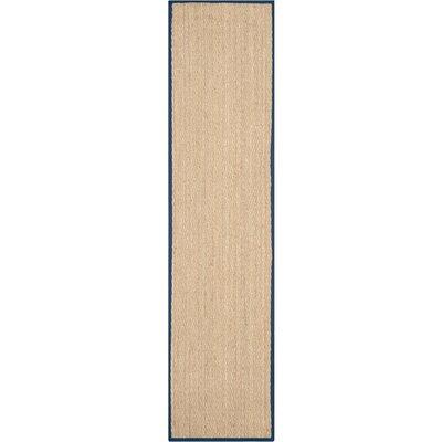 Dedham Beige/Blue Area Rug Rug Size: Runner 26 x 8