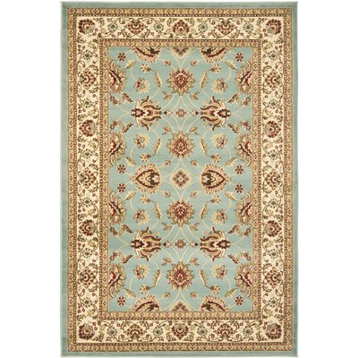 Silvera Blue & Ivory Persian Area Rug Rug Size: 8 x 11