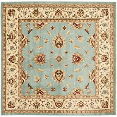 Silvera Blue & Ivory Persian Area Rug Rug Size: Square 67