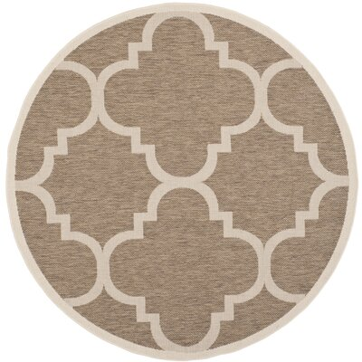 Alderman Brown Indoor Area Rug Rug Size: Round 53