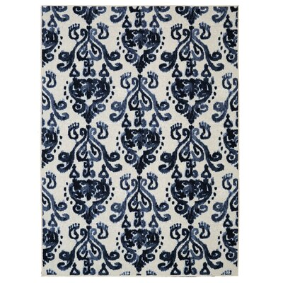 Leonard Blue/Cream Area Rug Rug Size: Rectangle 76 x 10