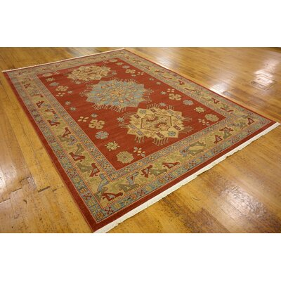 Viola Red Area Rug Rug Size: 7' x 10'