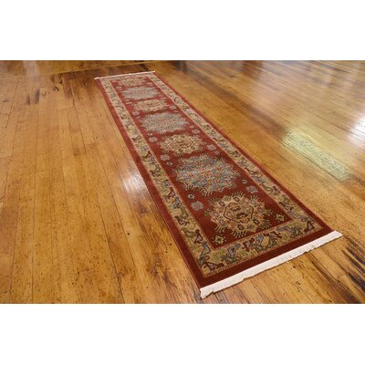 Viola Red Area Rug Rug Size: Runner 27 x 10