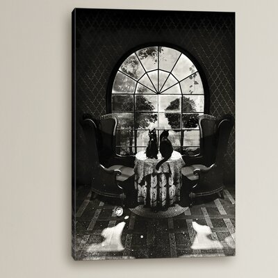Room Skull by Ali Gulec Graphic Art on Wrapped Canvas
