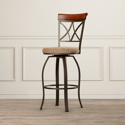 Follmer 29 Swivel Bar Stool with Cushion