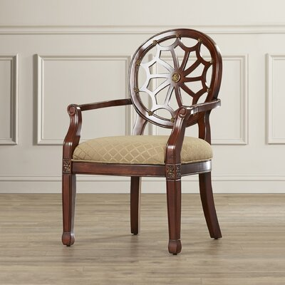 Lucinda Spider Web Fabric Armchair