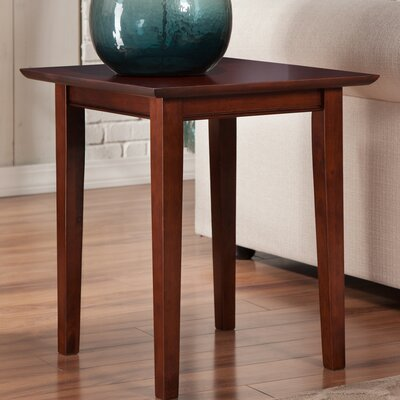 Ithaca Square End Table Color: Walnut