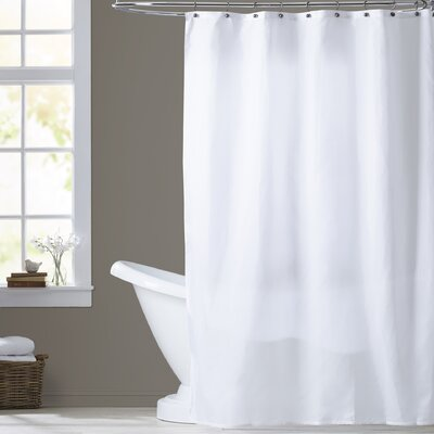 Tamesbury Nylon Shower Curtain Liner Color: White