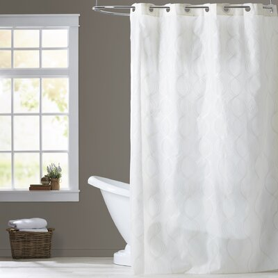 Ivory Shower Curtain Size: Extra Wide