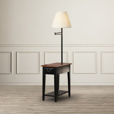 Apple Valley Chairside Lamp End Table Finish: Slate