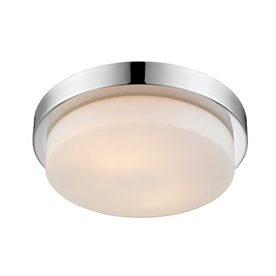 Buttonwillow 2-Light Flush Mount Finish: Chrome