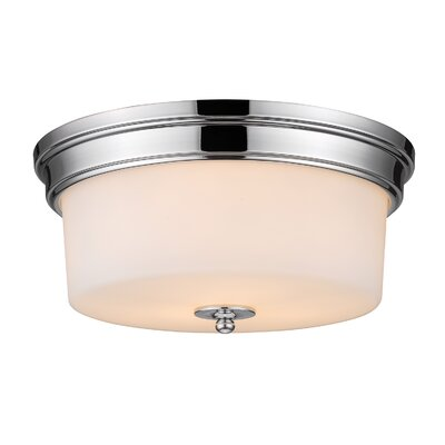 Buttonwillow 3-Light Flush Mount Finish: Chrome