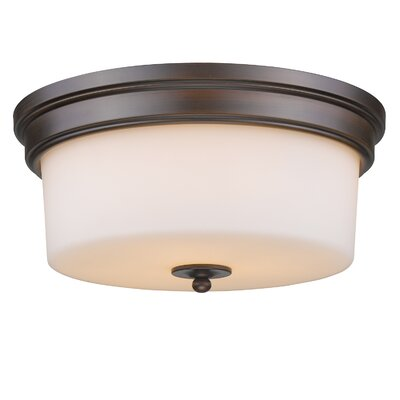 Buttonwillow 3-Light Flush Mount Finish: Rubbed Bronze