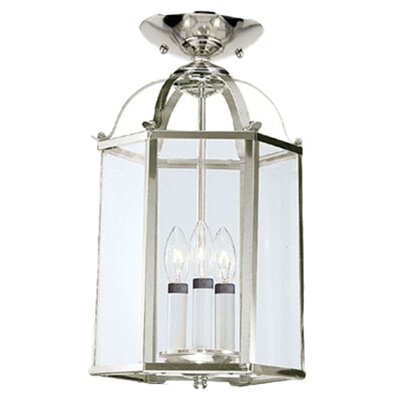 Leiters 3-Lights Foyer Pendant Finish: Brushed Nickel