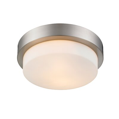 Buttonwillow 2-Light Flush Mount Finish: Pewter
