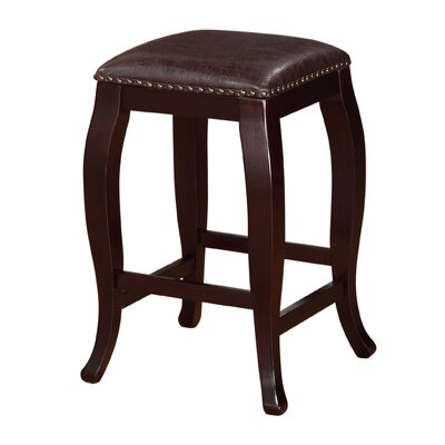 Kentland 24 Bar Stool Upholstery: Brown