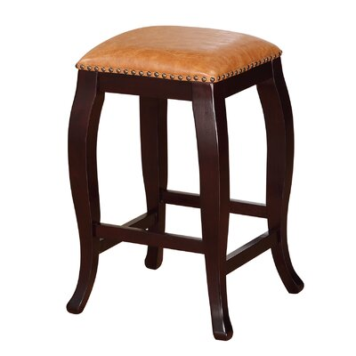 Kentland 24 Bar Stool Upholstery: Caramel