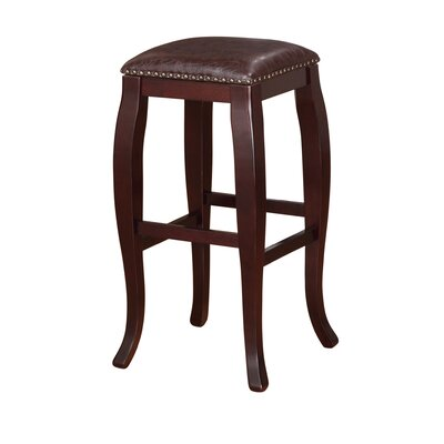 Westport 30 Bar Stool Upholstery: Brown