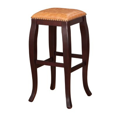 Westport 30 Bar Stool Upholstery: Caramel