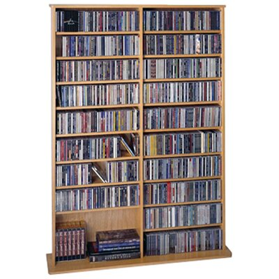 Conners  Multimedia Storage Rack Color: Oak