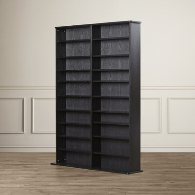 Conners  Multimedia Storage Rack Color: Black