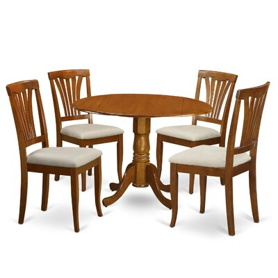Gloucester 5 Piece Dining Set Finish: Saddle Brown