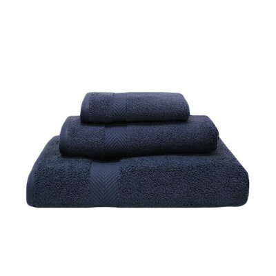 Zero-Twist 3 Piece Towel Set Color: Midnight