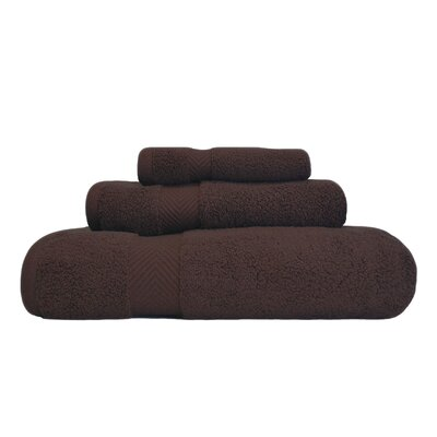 Zero-Twist 3 Piece Towel Set Color: Espresso