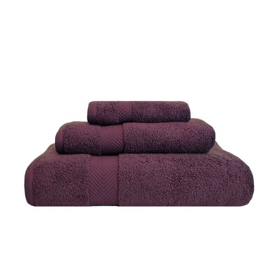 Clayton 3 Piece Zero-Twist Towel Set Color: Grape Seed