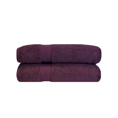 Clayton Zero Twist Bath Towel Set Color: Grape Seed