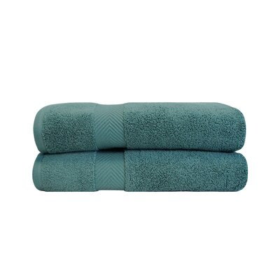 Clayton Zero Twist Bath Towel Set Color: Jade