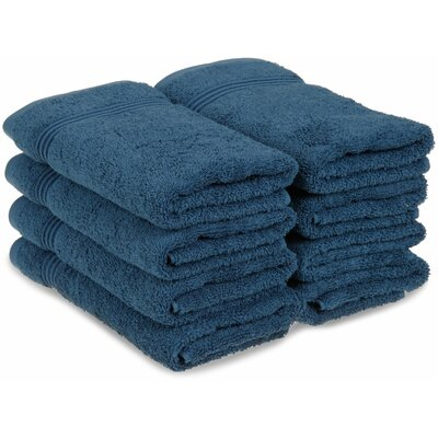 Patric 8 Piece Hand Towel Color: Sapphire