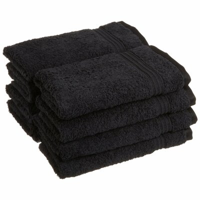 Patric 8 Piece Hand Towel Color: Black