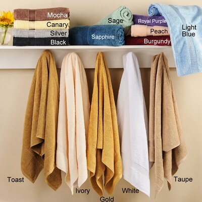 Nashville 600GSM Premium Combed Cotton Hand Towel Color: Taupe