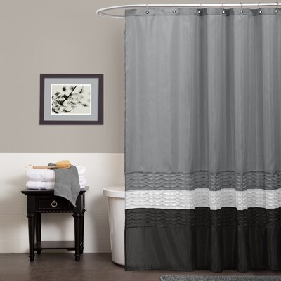 Shelburn Shower Curtain Color: Gray