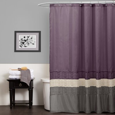 Shelburn Shower Curtain Color: Purple / Gray