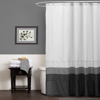 Shelburn Shower Curtain Color: White