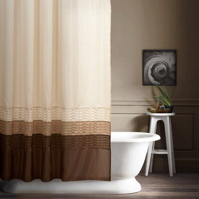 Shelburn Shower Curtain Color: Wheat / Taupe / Choc