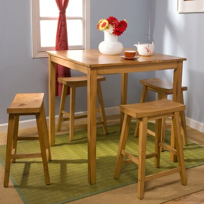 Cromwell 5 Piece Dining Set Finish: Rustic Oak